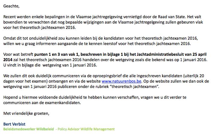Wetgeving 2016